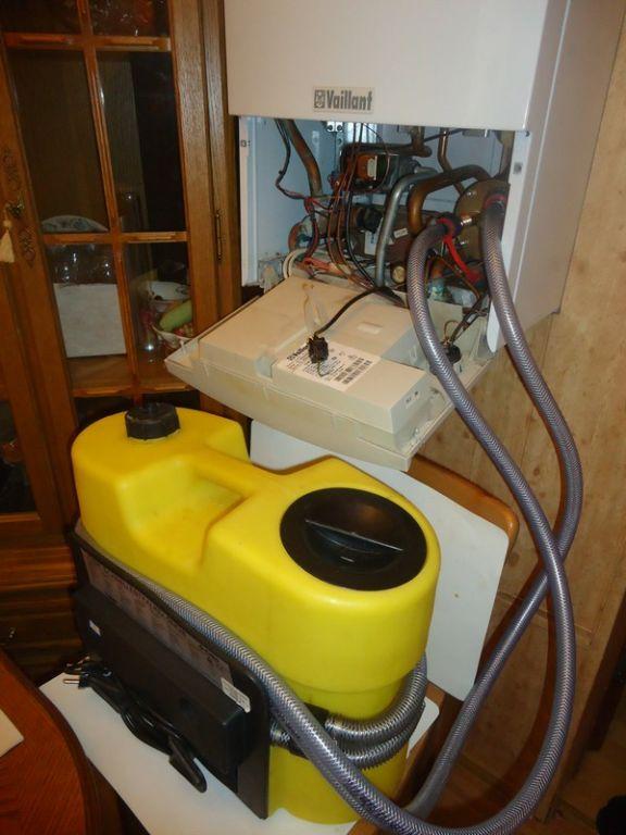 Промывка теплообменника газового котла вайлант Кожухотрубный конденсатор ONDA L 27.303.2438 Дзержинск